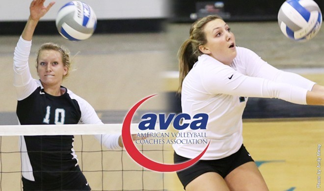 EC's Lindsay Biggs '14 and Ali McAlvany '15 named AVCA Second and Third Team All-Americans